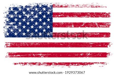 Old vintage flag of United States.