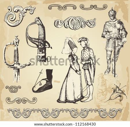 Old vintage illustration