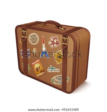 old vintage leather suitcase...