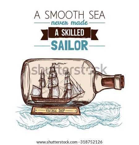 old vintage sailboat or ship