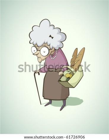 Old vintage woman