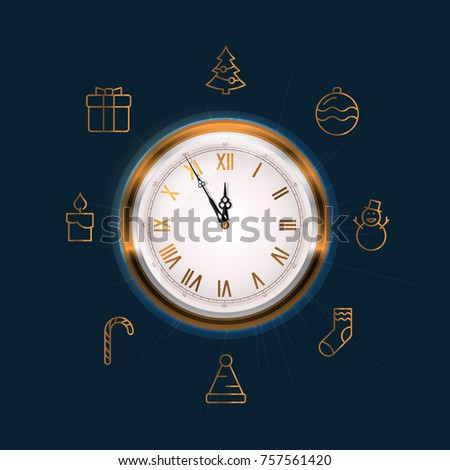old wall clock face showing...