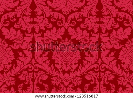 old wallpaper vector seamless