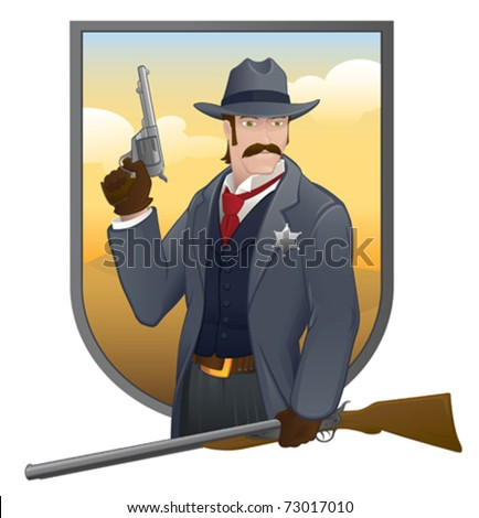 old west sheriff   vector