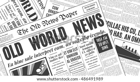 Free Old Newspaper Vector Download Free Vector Art – Newspaper