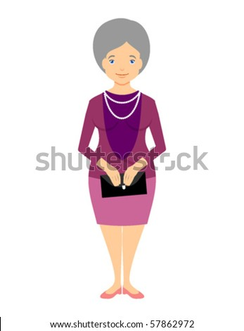 Old woman with handbag