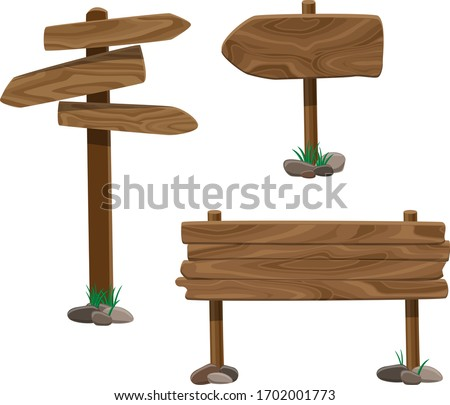 old wood sings set with stones
