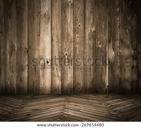 old wooden interior #269654480