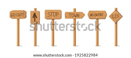 old wooden pointers banners