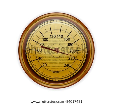 Old Wooden Speedometer