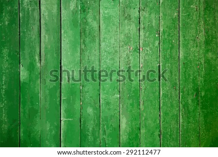old wooden wall  green