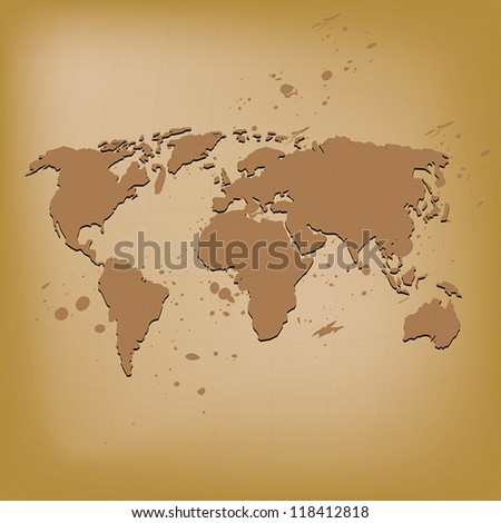 old world map vector illustration