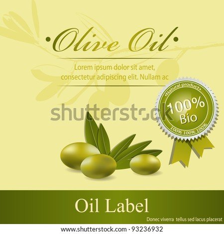 Olive oil label pattern