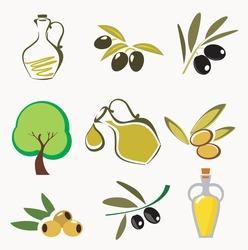 Olives and olive oil labels