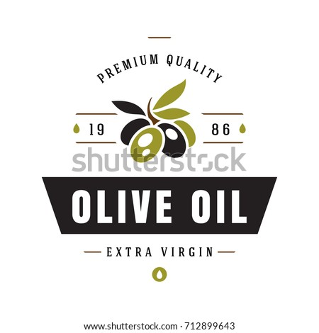 Olives Label on White Background.