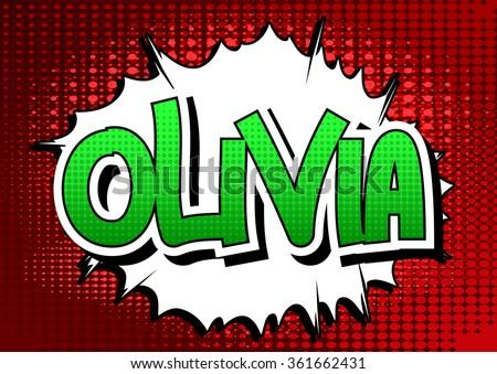 olivia   comic book style