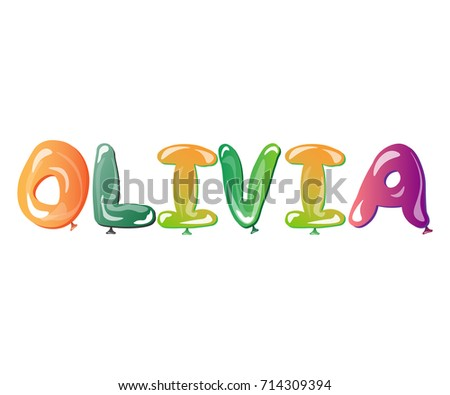 olivia female name balloons