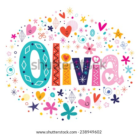 olivia female name decorative