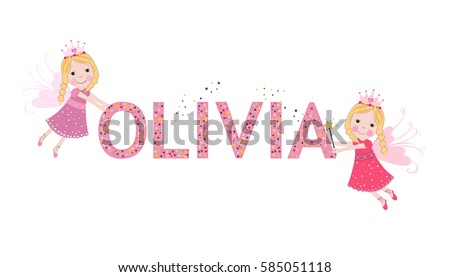 olivia female name with cute