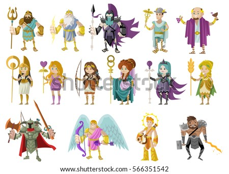 olympian gods and goddess from