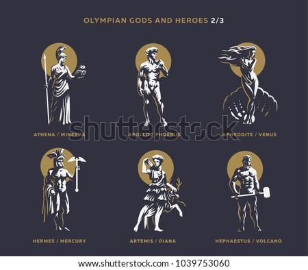 olympian gods and heroes set 2