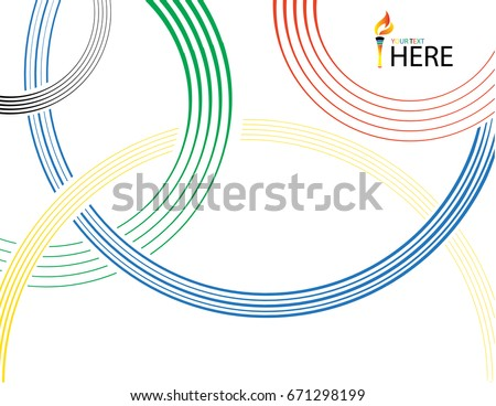 Olympic rings background. Vector illustration.