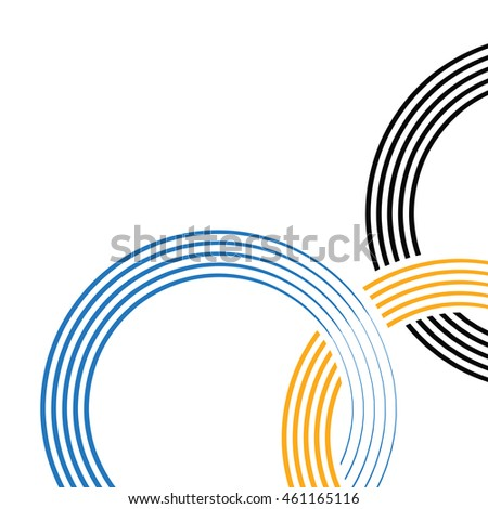 Olympic rings background. Vector illustration. Full five rings elements are hidden in mask. Suitable for poster, book cover, page design.