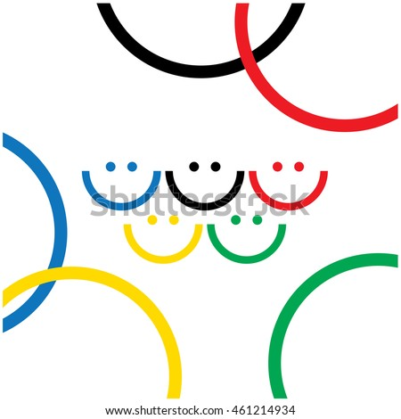 Olympic smiles. Cover design. Vector illustration