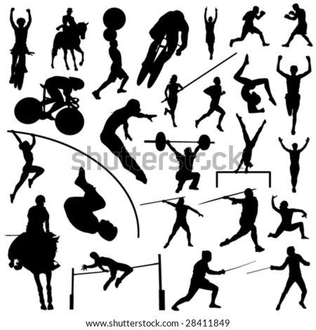 olympic sport silhouettes