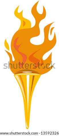 Olympic torch - stock vector