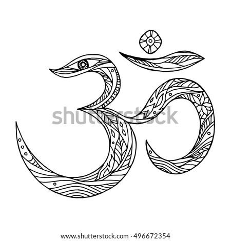 om  aum symbol design hand