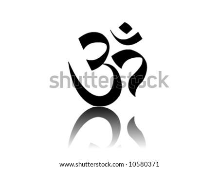 Om Aum Vector Sign