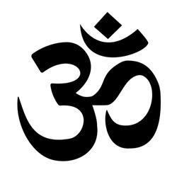 Om Hindu symbol in black