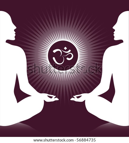 Om meditation silhouette design.