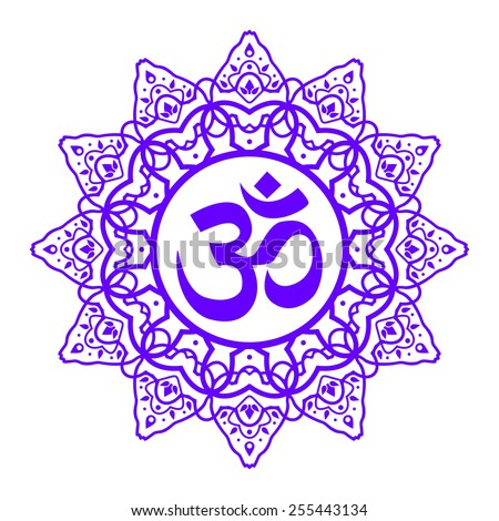 Royalty Free Om Symbol Aum Sign With Decorative
