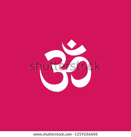 om symbol icon vector. om symbol sign on pink background. om symbol icon for web and app