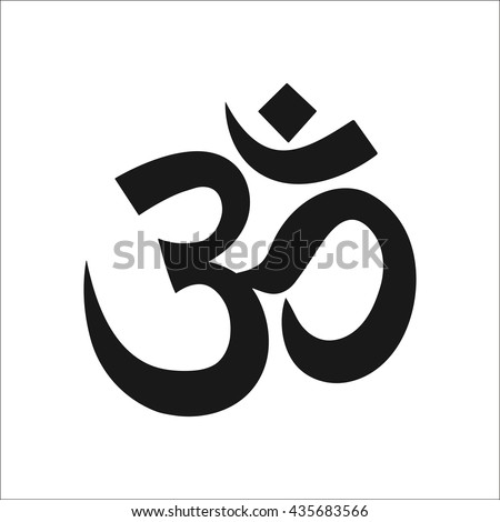 Om symbol Sign simple icon on background