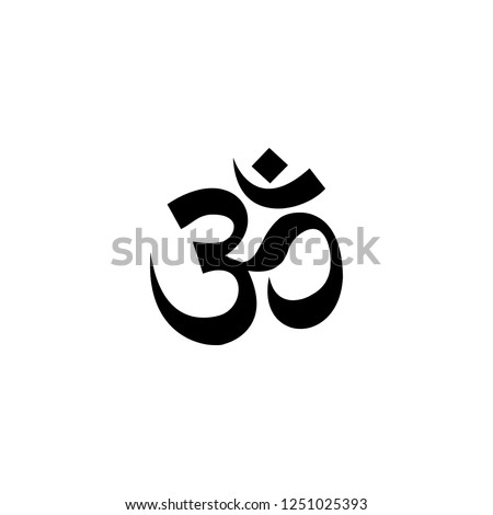 om symbol vector icon. om symbol sign on white background. om symbol icon for web and app