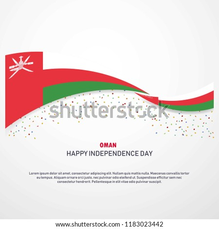 Oman Happy independence day Background
