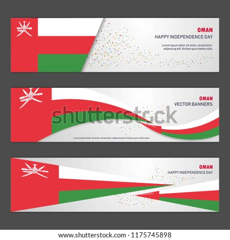 Oman independence day abstract background design banner and flyer, postcard, landscape, celebration vector illustration
