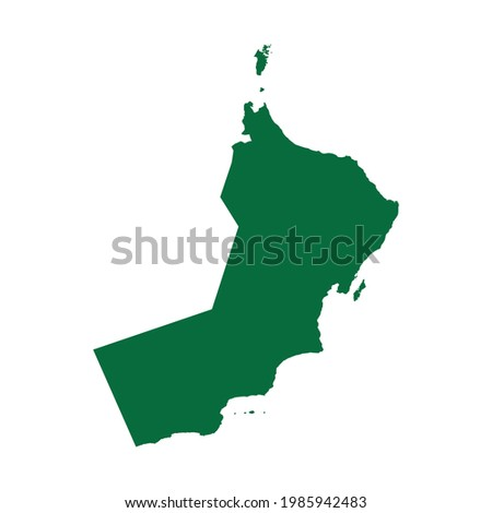 Oman Map. Oman map vector illustration. Oman map silhouette