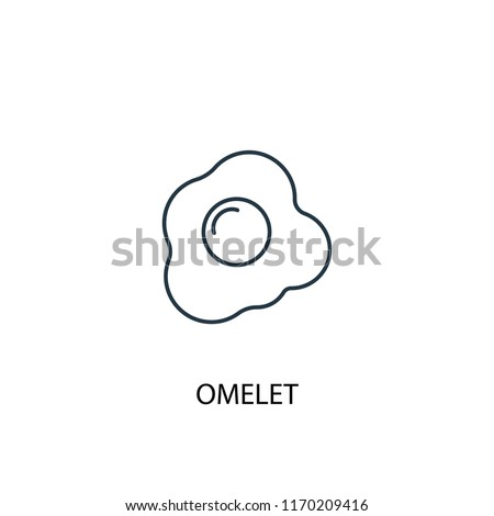 omelet concept line icon. Simple element illustration. omelet concept outline symbol design from Food set. Can be used for web and mobile UI/UX