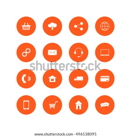 Omni Channel icon design. Multi Channel, E-Commerce, Digital Marketing - vector illustration. Customer network connection symbol. Set of icons on a theme business.