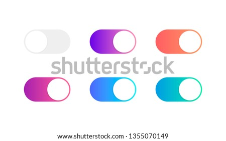 On and Off toggle switch buttons. Modern flat style vector illustration. Stock photo ©