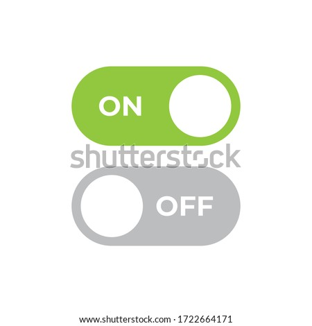 On off icon vector. Switch button sign Сток-фото ©