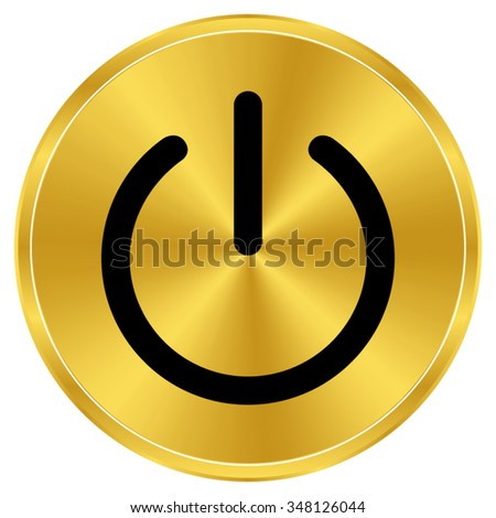 on off switch   gold vector icon