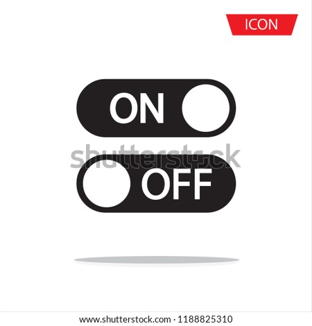 On off vector icon, switch symbol. Modern icon isolated on white background.