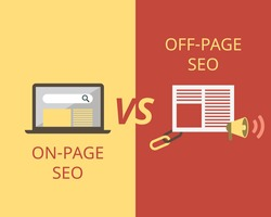on-page SEO compare to off-page SEO to help in search engine optimization