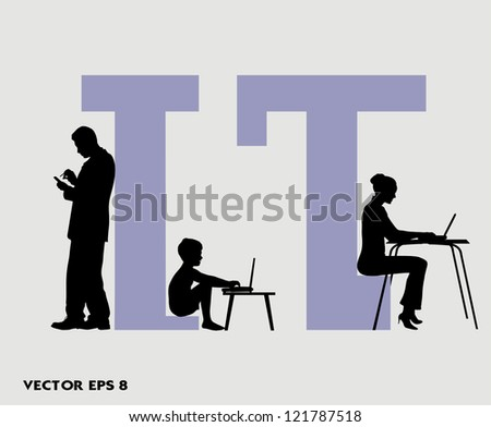 on the image the person at the computer is presented