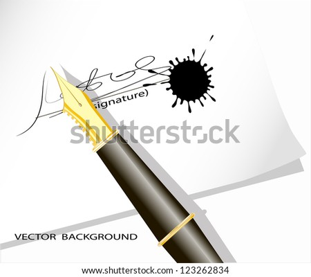 on the image the signature on a sheet of paper is submitted